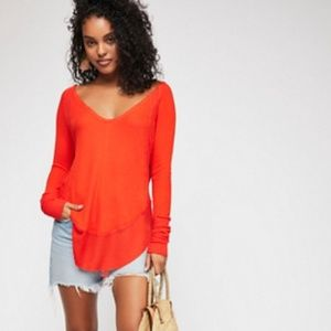 New!! Free People Catalina Thermal New Fire XS